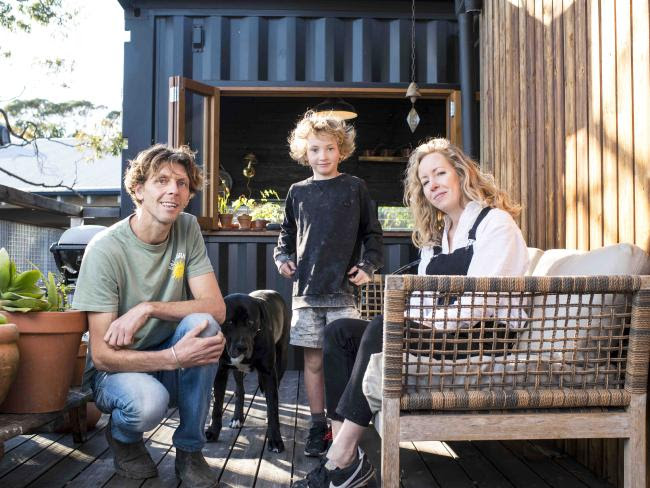 James Lister and Kelly Ross with their son Luka. Picture. Darren Leigh Roberts Source:News Corp Australia