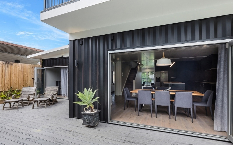 Moxon Bros also worked on this container house. Photo: Moxon Bros